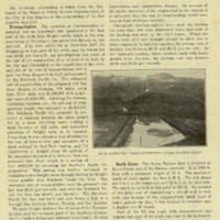 Los Angeles Aqueduct - folder containing maps and an article