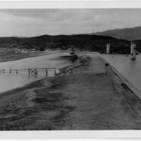 Los Angeles Aqueduct, San Fernando Dam during construction