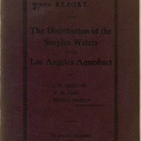 Report on the distribution of the surplus waters of the Los Angeles Aqueduct