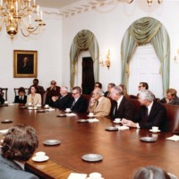 Tomás Rivera in a meeting with United States President Jimmy Carter