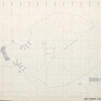 Mono Lake, blue-line map
