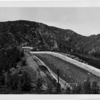 The point where the Los Angeles Aqueduct discharges into San Fernando Valley