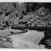 Wasteway from flume of Adams Plant, Inyo County (Image 6308)