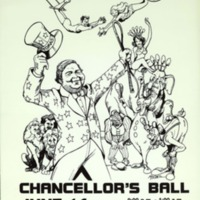 Poster for the Chancellor's Ball featuring Tomás Rivera