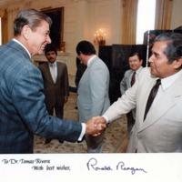 Tomás Rivera with United States President Ronald Reagan (Image 1)