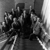 Tomás Rivera with his executive staff