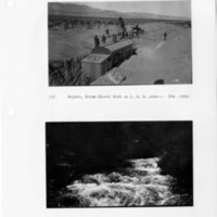 Steam shovel work on Los Angeles Aqueduct & Cottonwood Creek, Owens Valley