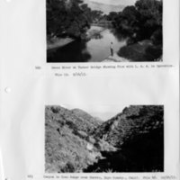 Owens River at Turner Bridge, showing flow with Los Angeles Aqueduct in operation